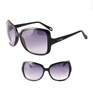 Fossil Smoke Grey/Black Square Sunglasses.